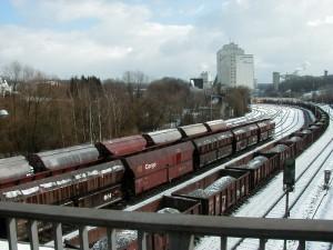 Az ívben fekvő Flandersbach rendező pályaudvaron is rádió távirányítású a tolatás