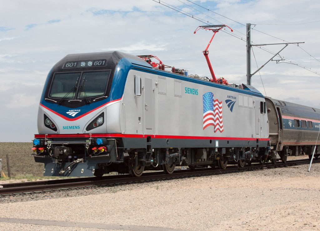 Amtrak Cities Sprinter auf Testfahrt  / Test drive for Amtrak Ci