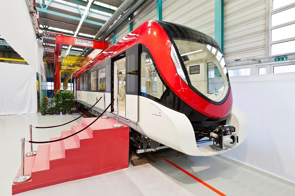 Siemens hat erstmals das neue Metrofahrzeug für das weltweit größte Nahverkehrsprojekt vorgestellt / Siemens has presented its new Inspiro type metro vehicle for the world's biggest mass transit project